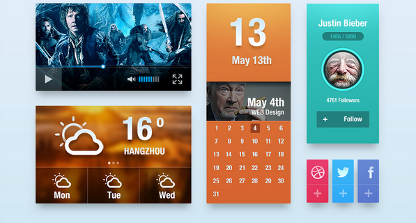 free ui kit psd march 2014 13