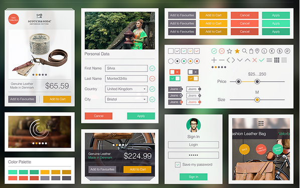 free ui kit psd march 2014 4