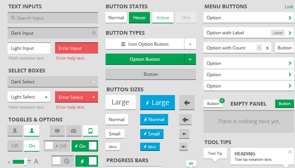 free ui kit psd march 2014 7