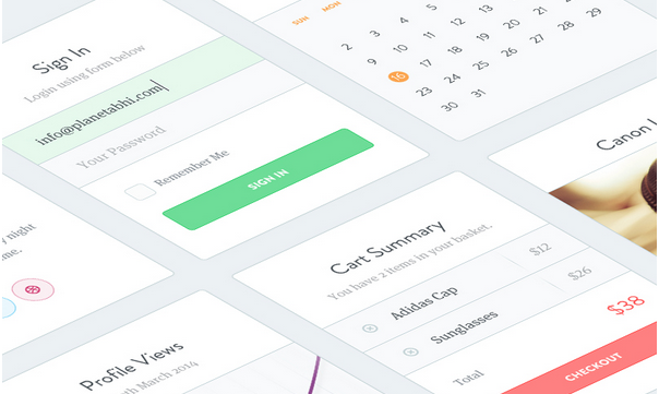 free ui kit psd march 2014 8