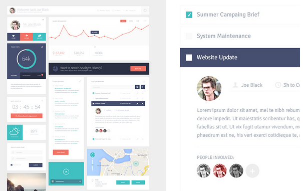 free ui kit psd march 2014 9