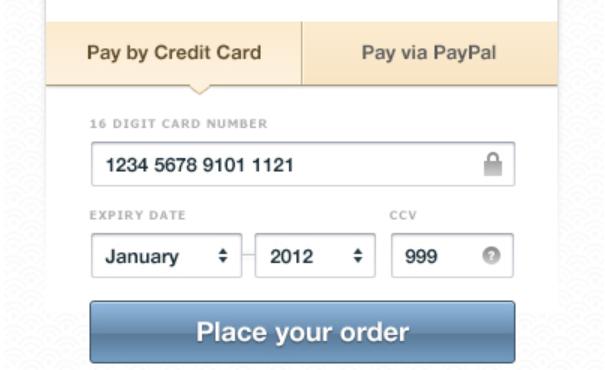 payment form psd 7
