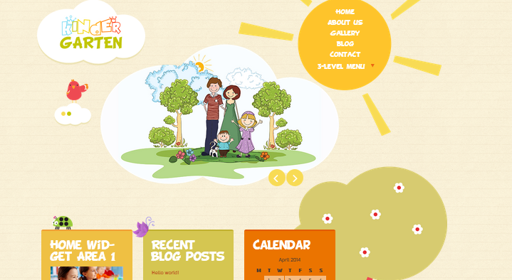 wordpress theme for kindergarten and preschool 3