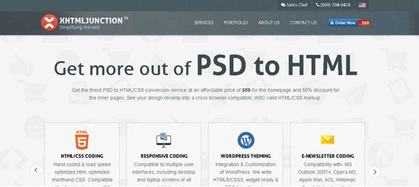 psd To html conversion services  11