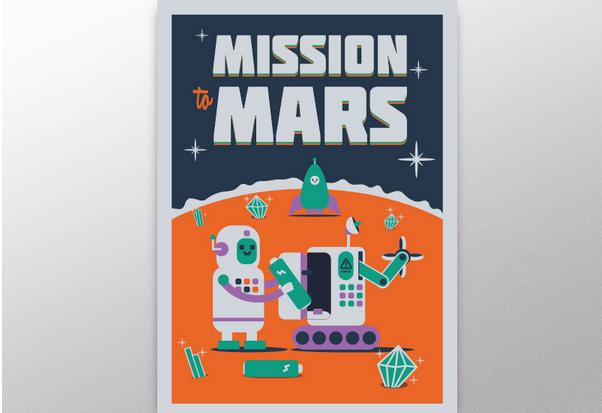 flat poster design 9