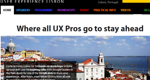 best conferences for designers - UX-LX Lisbon