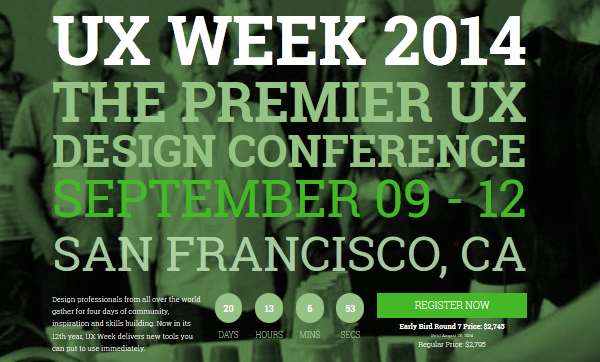 best conferences for designers - UX Week San Francisco