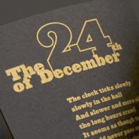 metallic Christmas card design
