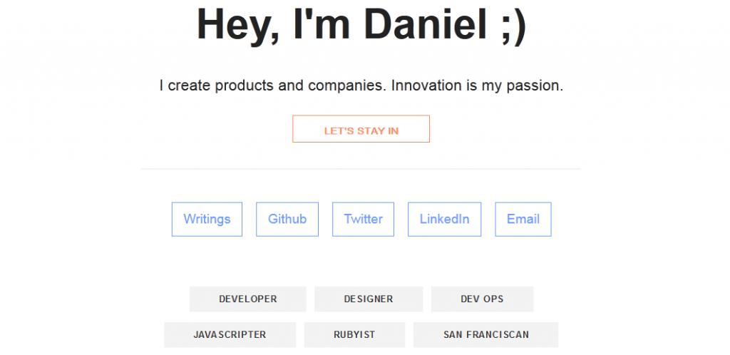 website portfolio for developer 4