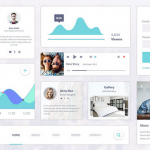 material design UI kit psd 1