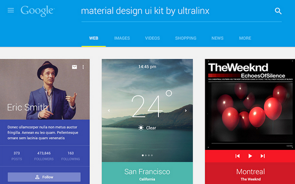 material design UI kit psd 2