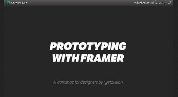 Best framer.js tutorials for 2015 1