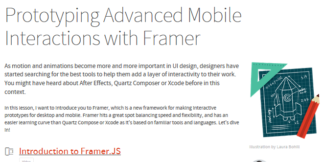 Best framer.js tutorials for 2015 2