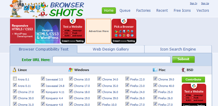 cross browser testing tool 5