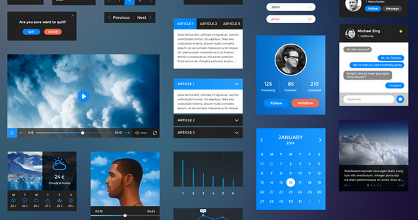 free ui kit psd for 2015 2