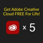 Giveaway: Enter to win 5 x Adobe Creative Cloud free FOR LIFE
