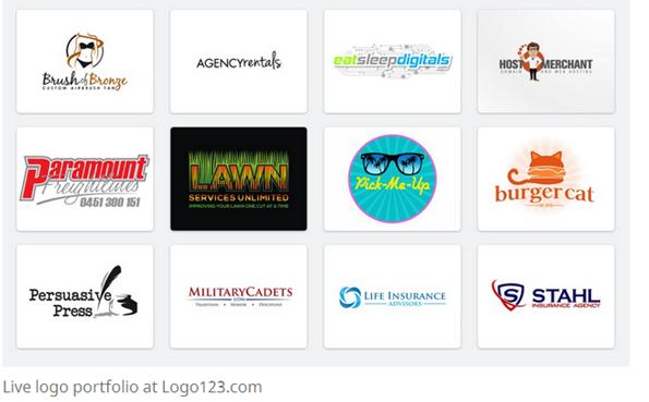 cheap logo design service - Fivver vs logo123 3