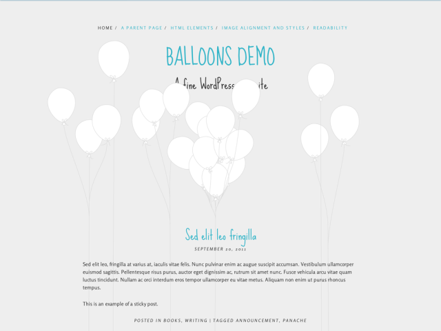 10) The balloon theme