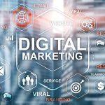 Digital Marketing. Mixed Media Business Background